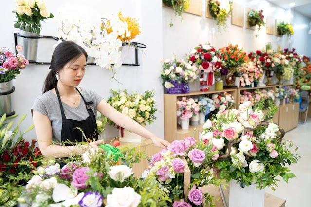 lắp đặt camera cho cửa hàng hoa