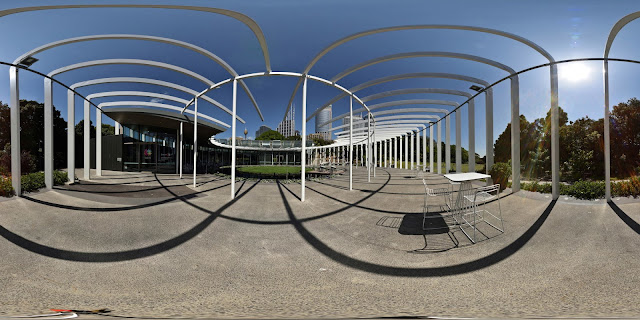 The Calyx - Royal Botanical Gardens Sydney, part of my 360° photo-panorama tour of Sydney by Kent Johnson.
