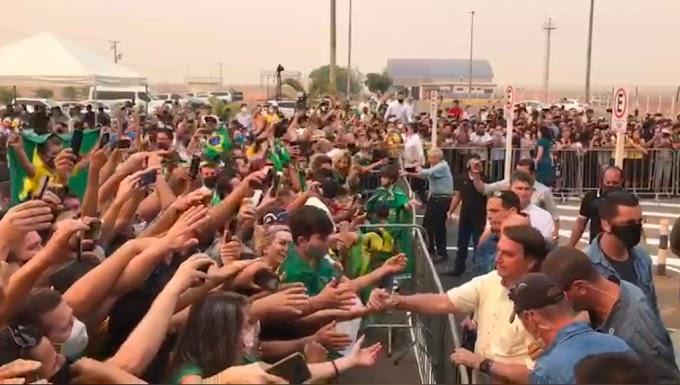 Esquerda desesperada: Bolsonaro atrai multidão em sua visita a Sinop, no Mato Grosso