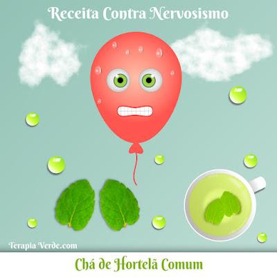 Receita Contra Nervosismo: Chá de Hortelã Comum