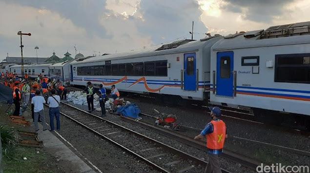 Ngeri, 7 Gerbong Kereta Api Meluncur Sendiri Tanpa Lokomotif di Malang