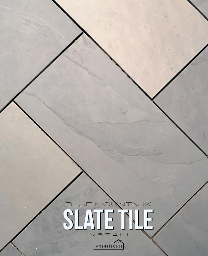 Blue Mountauk slate tile - #thdprospective