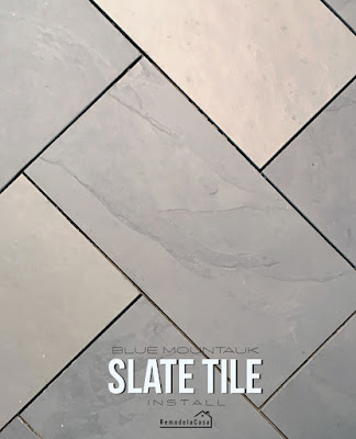 How to install slate tile