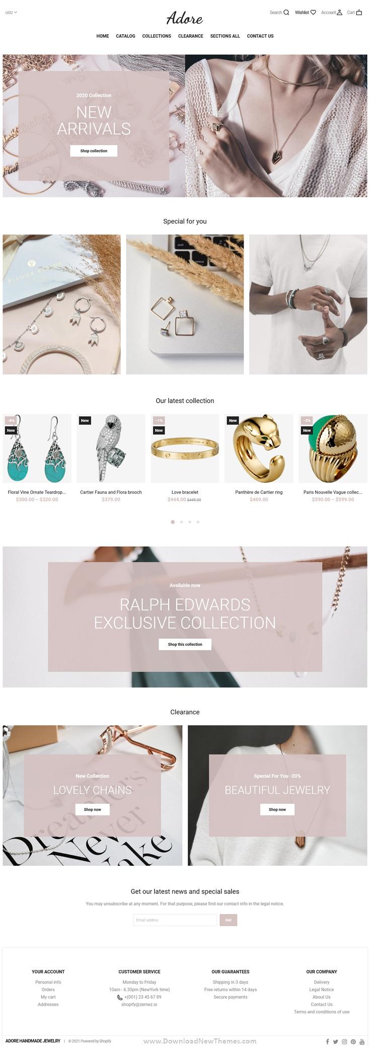 Shopify Handmade Jewelry Shop Theme