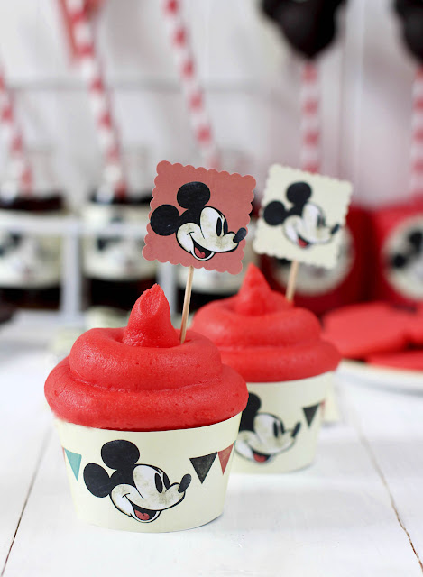 Cupcakes Mickey Mouse