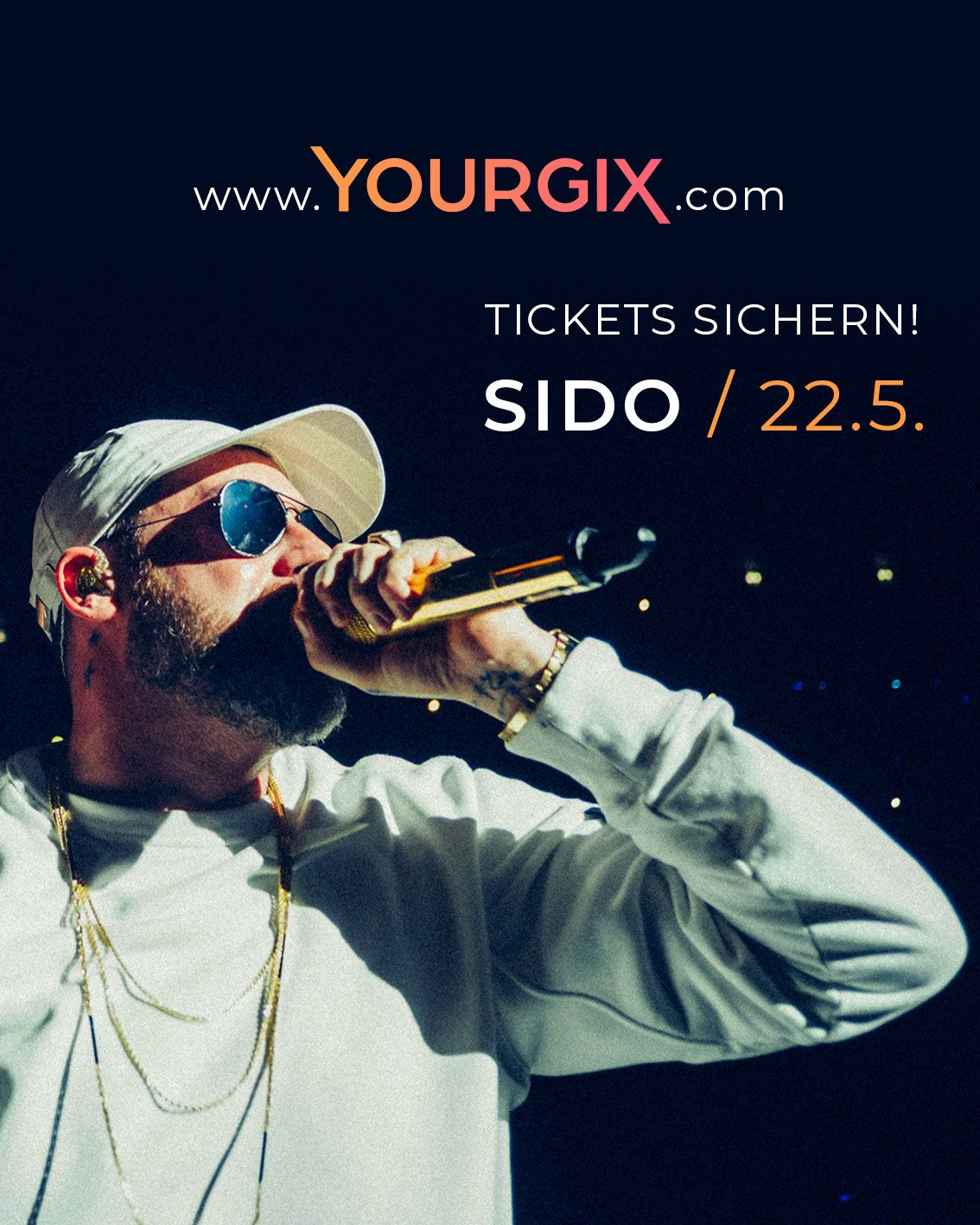 SIDO LIVE STREAMING KONZERT am 22.5.2021 | YOURGIX Ticket Verlosung
