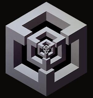 Figura imposibles que se hacen con una retícula isométrica.