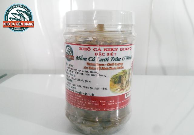 Đặc sản Mắm Cá Lưỡi Trâu đặc sản chính gốc U Minh Thượng đóng thành hộp 500g