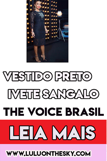 O vestido preto da Ivete Sangalo no The Voice Brasil