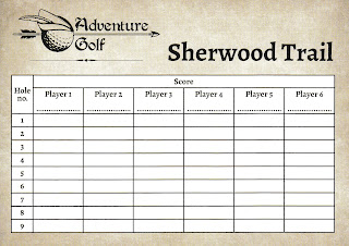 Adventure Golf scorecard from Center Parcs in Sherwood Forest