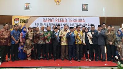 KPU Bone Tetapkan 45 Calon Legislatif Terpilih Hasil Pemilu 2019, Ini Nama-namanya