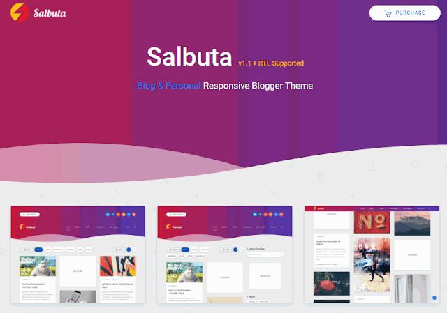 Salbuta Responsive Blogger Theme