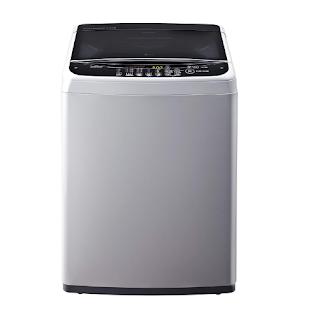 LG 6.5 kg Inverter Fully-Automatic Top Loading Washing Machine (T7581NDDLG, Middle Free Silver)