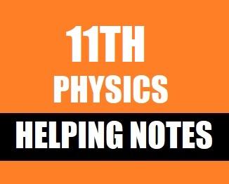 11th Class (Inter Part-1) Notes of Physics (Pdf Format) - taleem 360