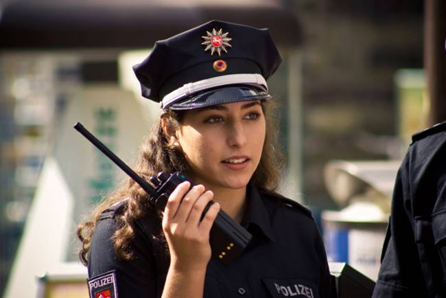 The most beautiful police girls from Germany