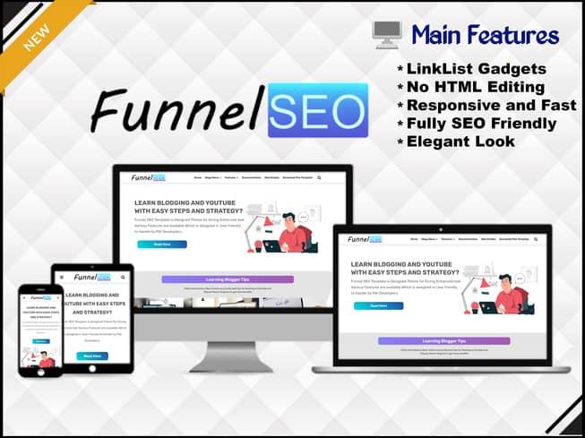 Funnel SEO - Responsive & Blogging Blogger Template