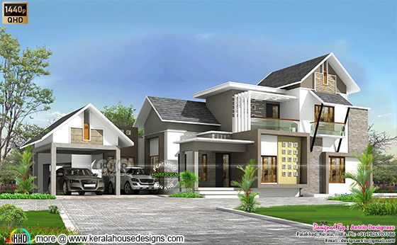 mixed roof 4 bedroom house