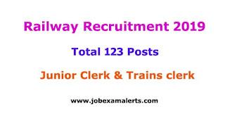 Railway Recruitment 2019 | Junior Clerk