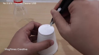 Tutorial Cara Membuat Vacuum Cleaner USB Sederhana
