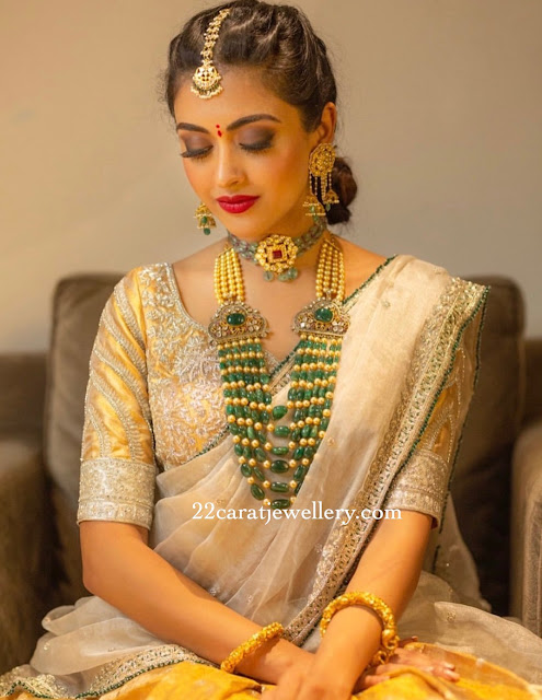 Model in Emerald Beads Haram