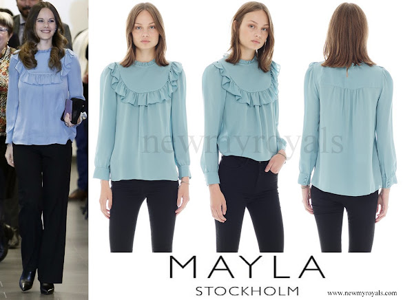 Princess Sofia wore MAYLA Daria Silk Blouse
