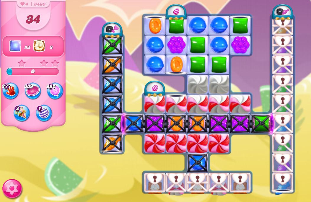 Candy Crush Saga level 8439