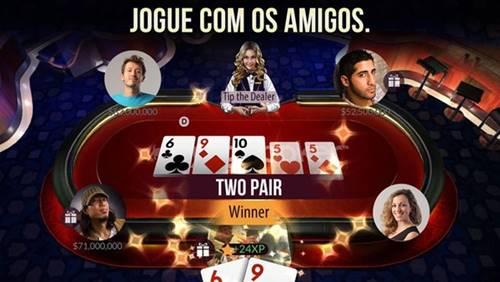 O Zynga Poker se destaca pela comunidade e quantidade de torneios