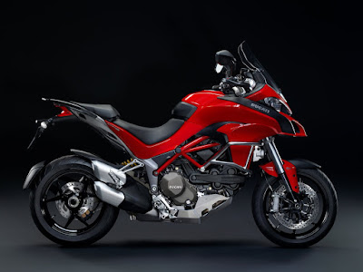 2016 Ducati Multistrada 1200 Enduro off road  red color Bike pose