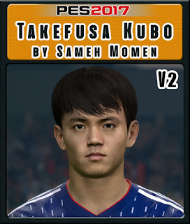 This face can be used for Pro Evolution Soccer  Update, PES 2017 Faces Takefusa Kubo by Sameh Momen