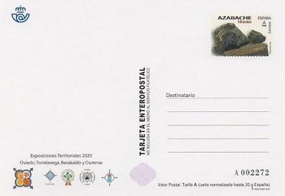 tarjeta, prefranqueada, sello, Azabache
