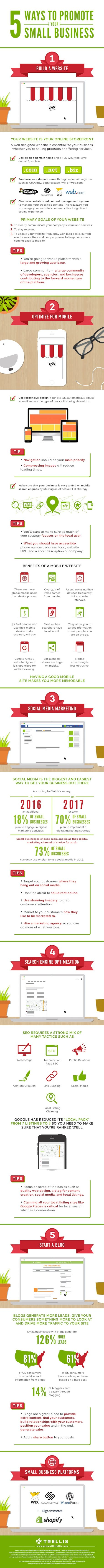 5 Ways To Promote Your Small Business #infographc