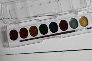 Farby akwarelowe z brokatem Giotto test recenzja
