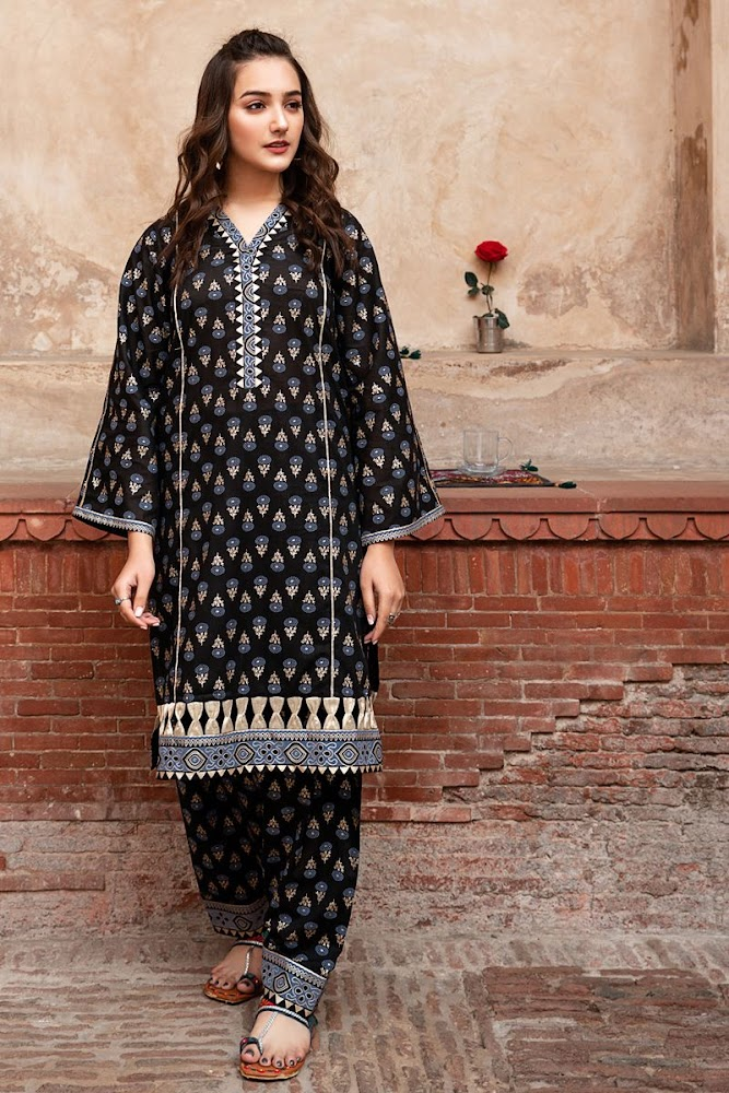 Gul Ahmed Black Suit Summer Collection