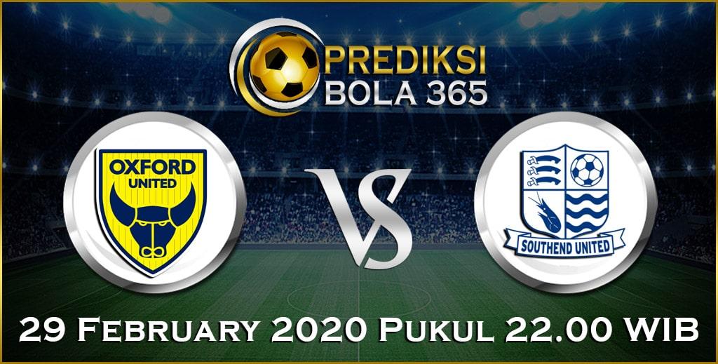 Prediksi Skor Bola Oxford United vs Southend 29 Feb 2020