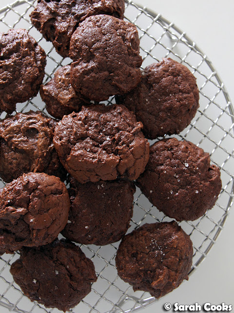 Salted Chocolate Rye Cookies