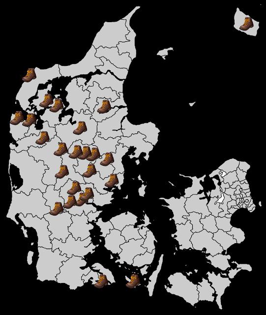mine vandreture i danmark per 30 april 2021
