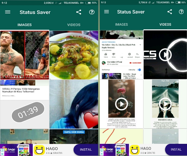 cara download video di status wa