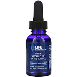 Life Extension, Жидкий витамин D3, 2000 МЕ, 29,57 мл