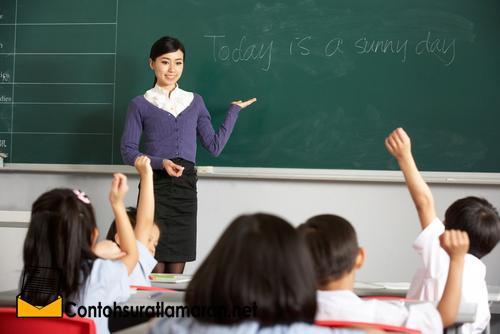 Contoh Surat Lamaran Pekerjaan  Menjadi Guru