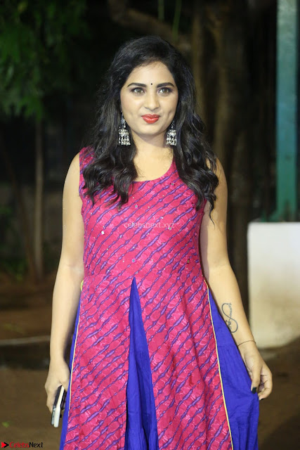 Srushti in beautiful Pink Sleeveless Dress Cute Actress Dimples ~  Exclusive 059.JPG