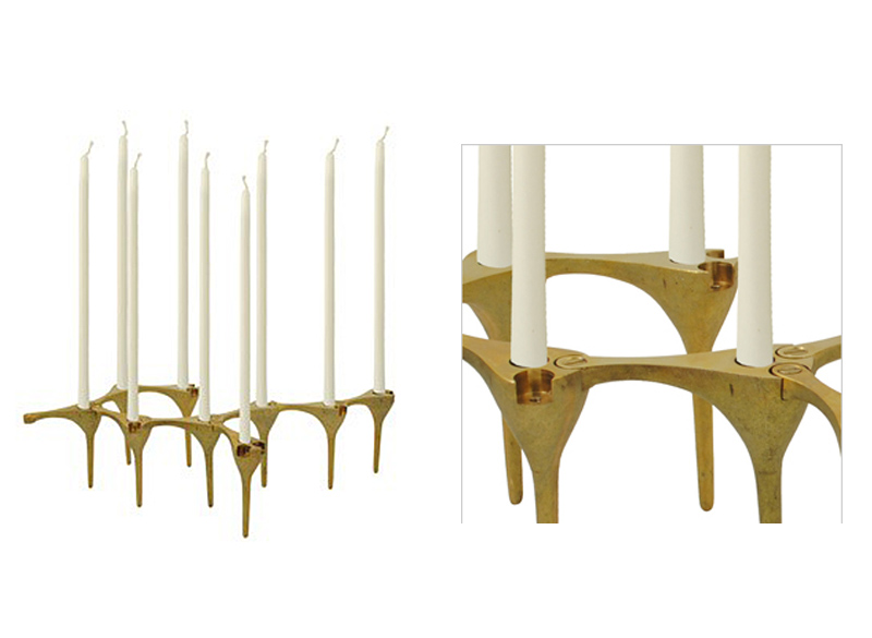 Sharsheret Link Brass Menorah