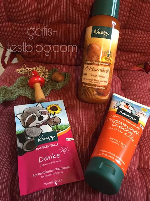 Kneipp: Aromapflegebad, Aromapflegedusche, Badekristalle