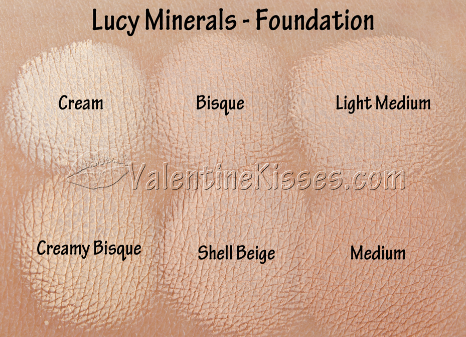 Valentine Kisses Lucy Minerals Foundation 6 Shades