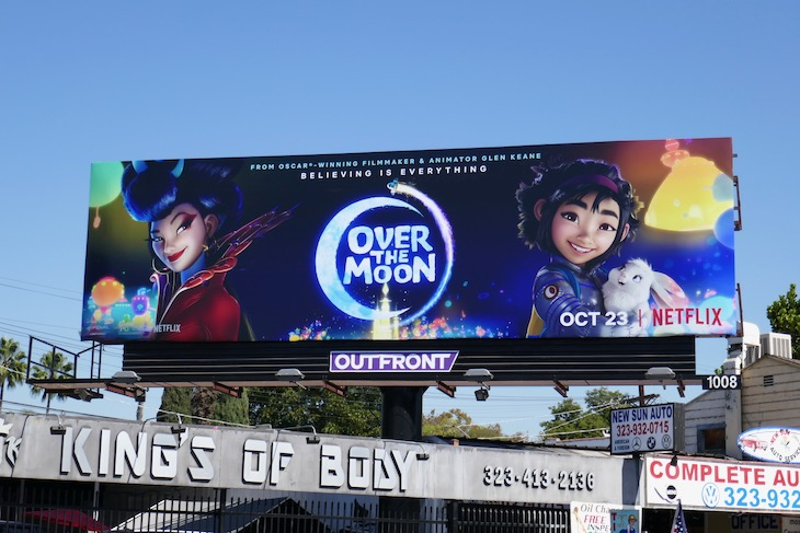 Over the Moon Netflix film billboard