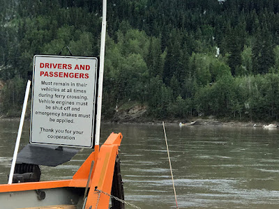 We were First in Line for the George Black Ferry across the Yukon River