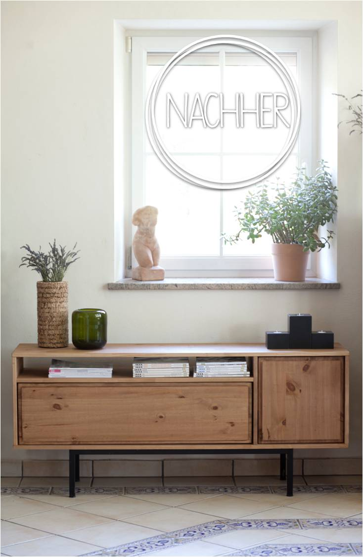 diy vom lowboard zum sideboard wohnprojekt wohnblog f r interior diy und lifestyle. Black Bedroom Furniture Sets. Home Design Ideas