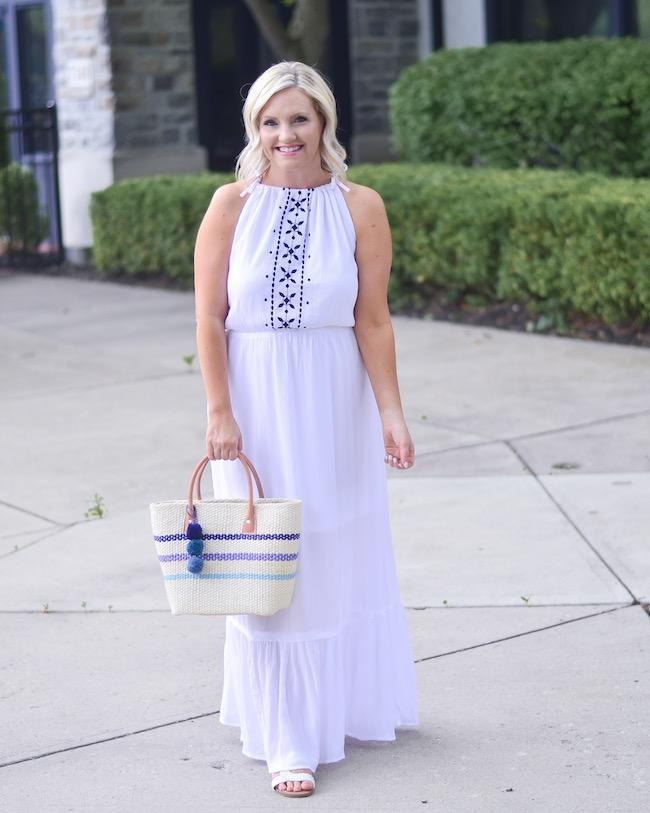 Walmart White Maxi dress