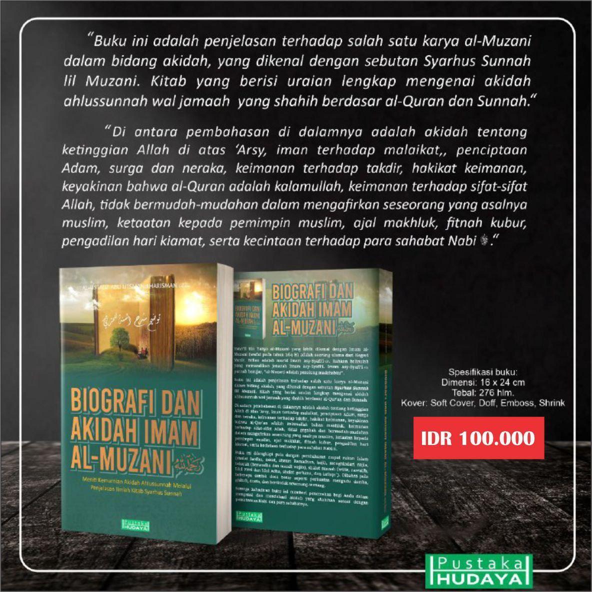 Buku Biografi dan Akidah Imam Al Muzani Pustaka Hudaya