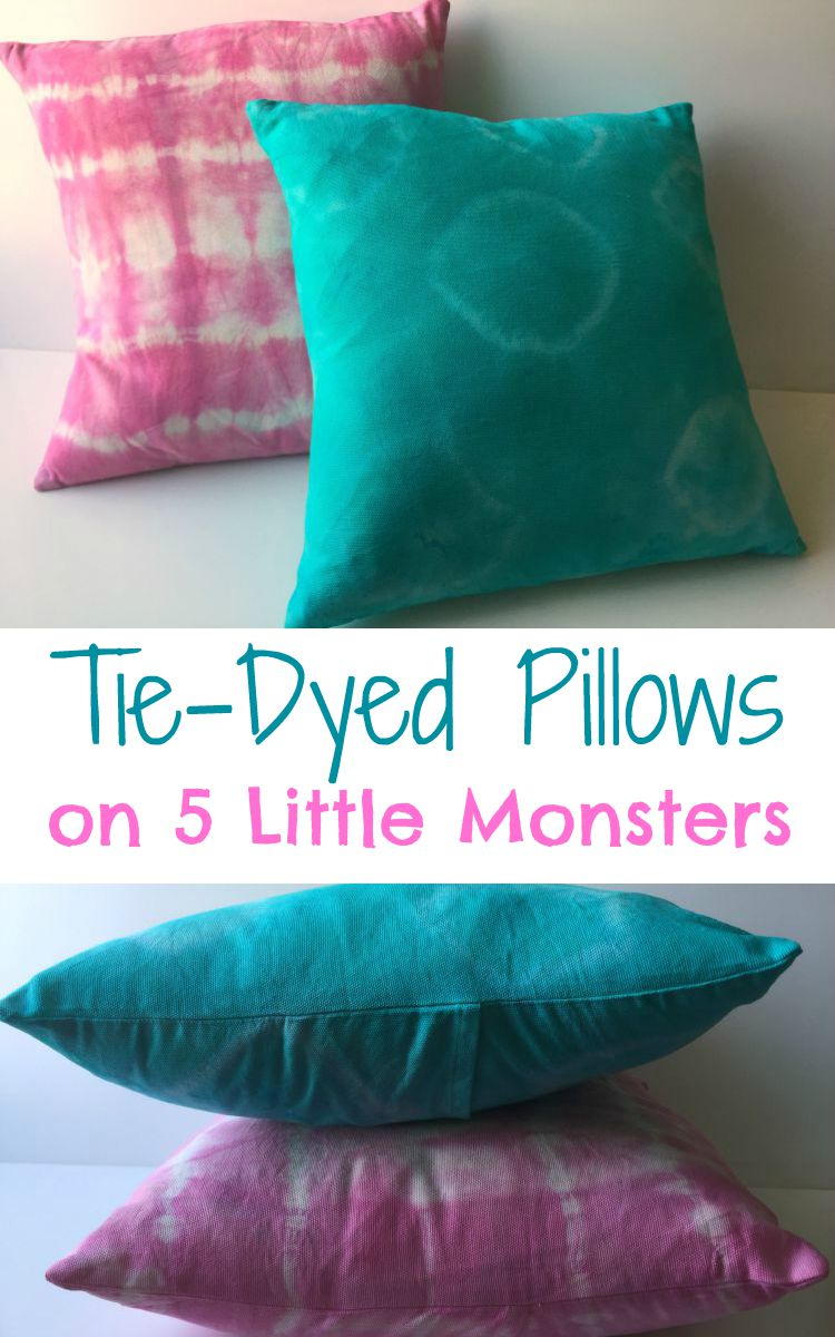 tie-dye pillow tutorial
