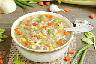 Chicken Vegetable and Rice Soup